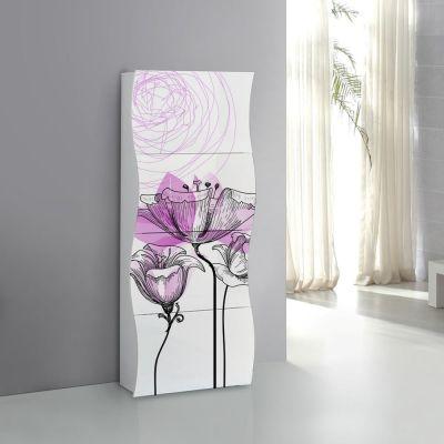 Rima Scarpiera linea Mia 4 ante con serigrafia floreale viola