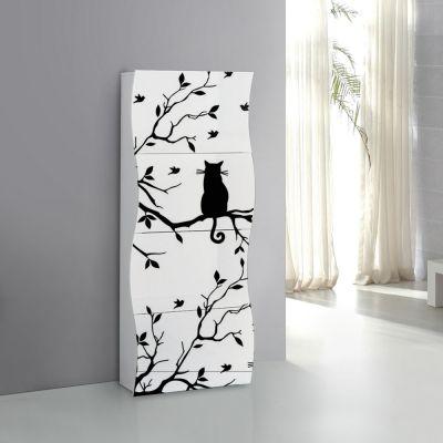 Rima Scarpiera linea Mia 4 ante con serigrafia gatto