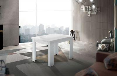 Montefioredesign Tavolo raddoppiabile a libro 90x90 finitura Bianco Lucido