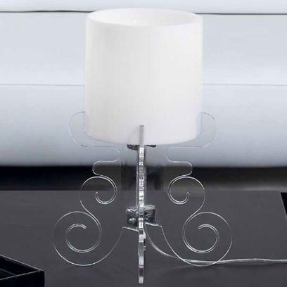 Lampada da tavolo Truciolo Trasparente  H 36