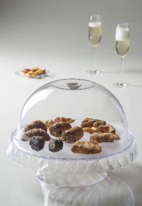 Alzata per dolci e frutta Diamond trasparente