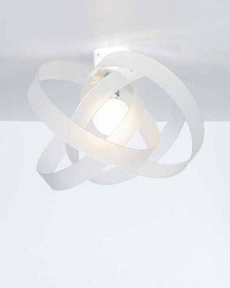 Plafoniera Nuvola  in Bianco satinato di Emproium