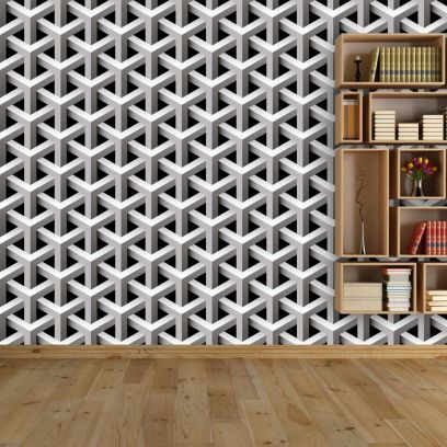 Carta da parati decorativa rombi 3D