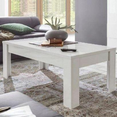 Tavolino linea Clear in finitura Bianco Opaco