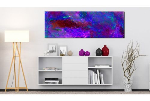 Quadro su vetro acrilico Purple Vision