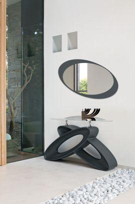 Mobile da ingresso Eclipse in  finitura Grafite con Specchio