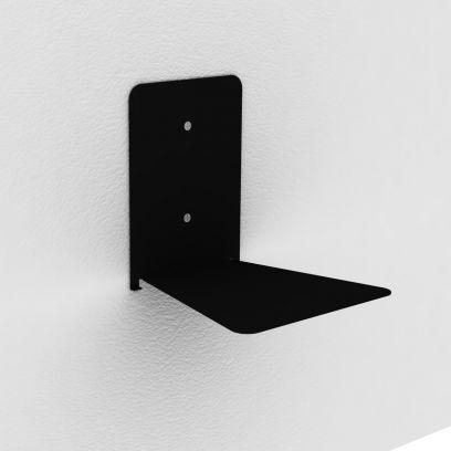 Reggilibri invisibile nero, mensola invisibile design per libri sospesi