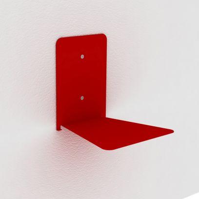 Reggilibri invisibile rosso, mensola invisibile design per libri sospesi