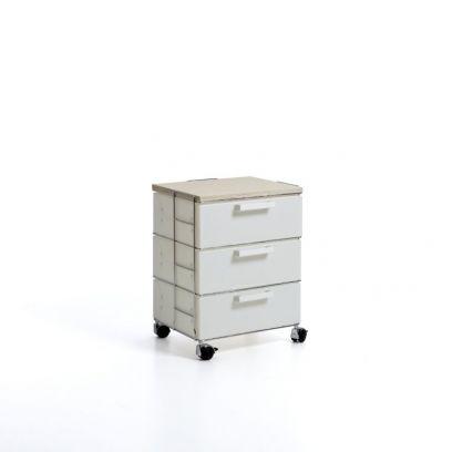 Cassettiera isotta emporium bianca 3 cassetti wood
