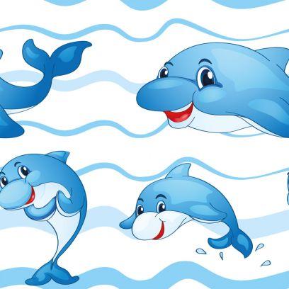 Carta da parati Baby collection Delfini