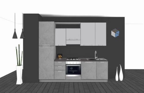 Cucina Lineare L.270xH.228 in vari colori