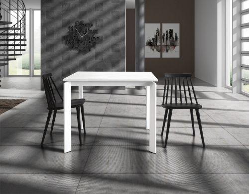 Tavolo Fit bianco 90x90 allungabile