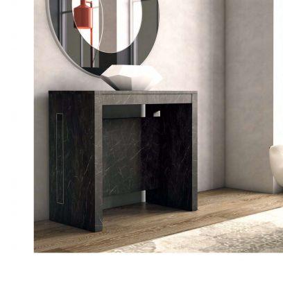 Consolle CLEVER con allunghe incorporate Marmo Nero L 90