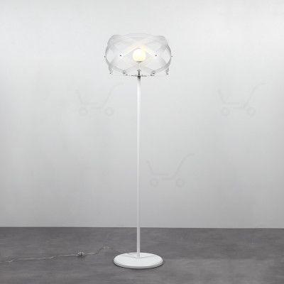 Lampada da terra Nuclea in Bianco Satinato di Emproium