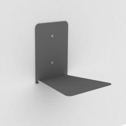 Reggilibri invisibile grigio, mensola invisibile design per libri sospesi