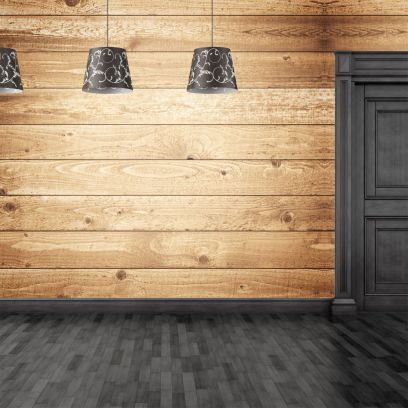 Carta da parati doghe in legno orizzontali