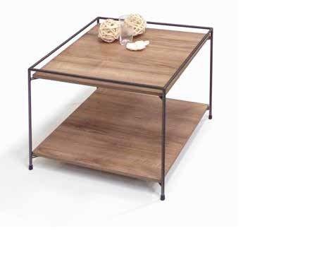 Tavolino Cristal linea Contact con piano in Noce