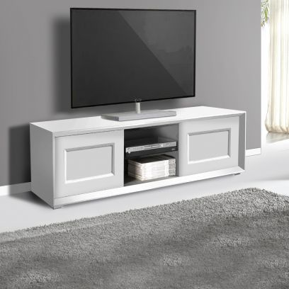 Porta Tv 2 ante e 2 vani a giorno linea Tilt CLASSIC in finitura Bianco opaco