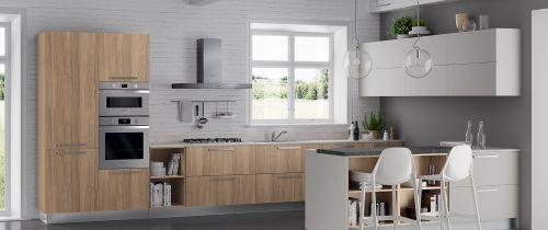 Cucina Moderna Natural modulare