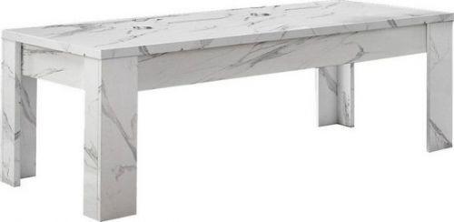 Tavolino linea  Olimpia in finitura Marmo Bianco