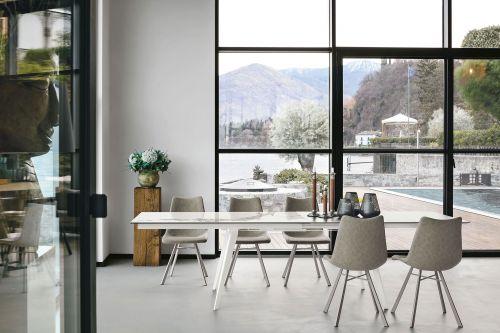 Tavolo allungabile Syncro in finitura Carrara L 150