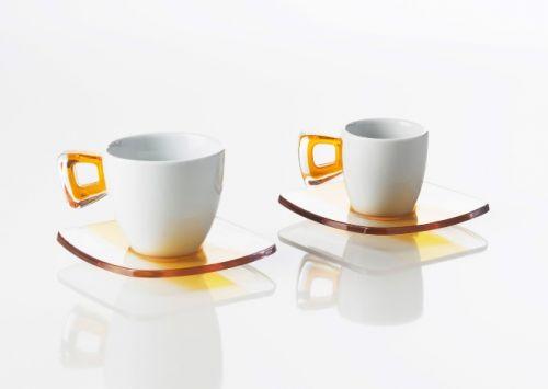 Set 2 tazzine caffè squre omada giallo