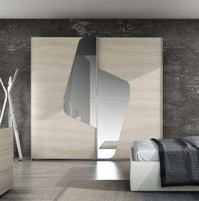 Armadio scorrevole Coby con specchio