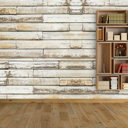 Carta da parati assi di legno