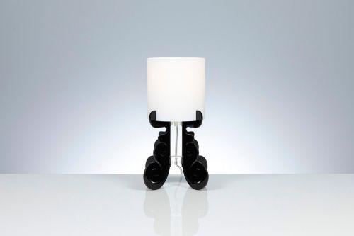 Lampada da tavolo Truciolo in Nero H 36