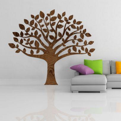 Decorazione in legno albero della vita, legno wenge