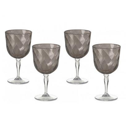 Set 4 bicchieri da Vino Diamond omada fume