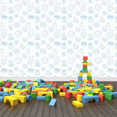 Carta da parati baby toys