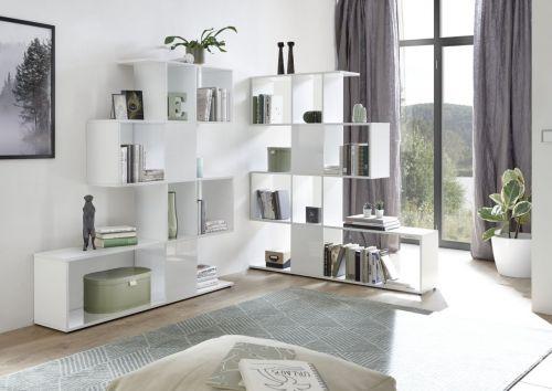 Libreria Piramid  in Bianco Lucido