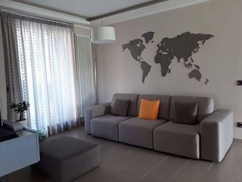 Planisfero da parete 1,5 metri grigio scuro