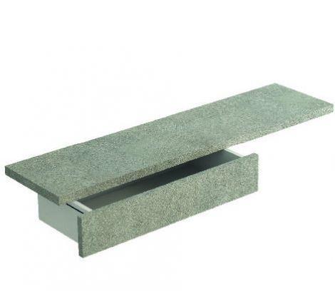 Mensola Gas con cassetto finitura Cemento
