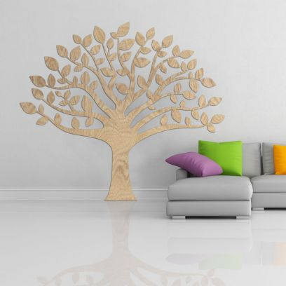 Decorazione in legno albero della vita, legno chiaro