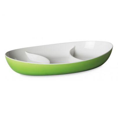 Antipastiera Trendy ovale, lunghezza 28 cm verde