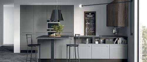 Cucina Moderna Trix con isola personalizzata