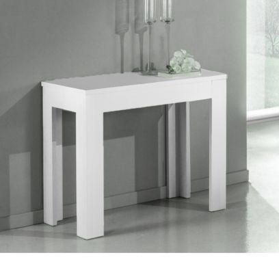 Tavolo Consolle Allungabile Magic  laccata bianco 3 metri