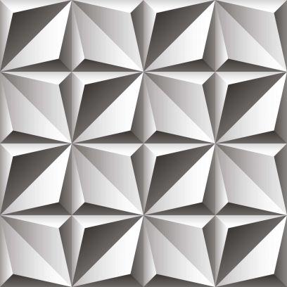 Carta da parati geometrica a quadrati 3D