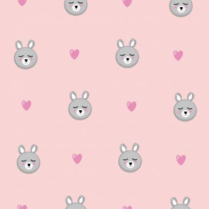 Carta da parati Baby collection Orsetti rosa
