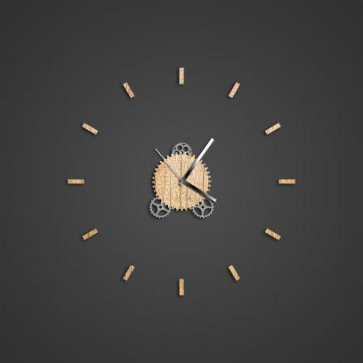 Orologio Illum effetto legno naturale