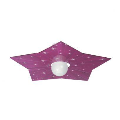 Plafoniera Star in Fuxia di Emporium
