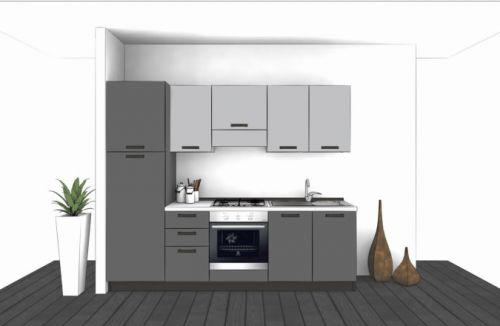 Cucina Lineare L.255xH.204 in vari colori