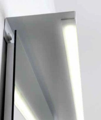 Mensola in metallo Ludos L90xP15 con LED integrato