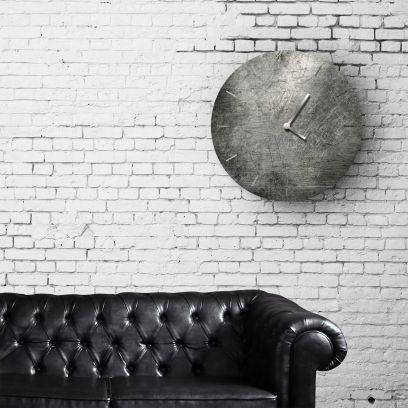 Orologio in ferro rotondo finitura metallo