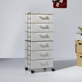 Cassettiera isotta emporium bianca 6 cassetti wood