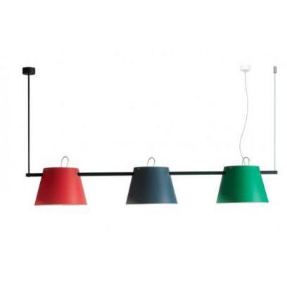 Lampada a sospensione Trio colore Verde ,Grigio e Rosso