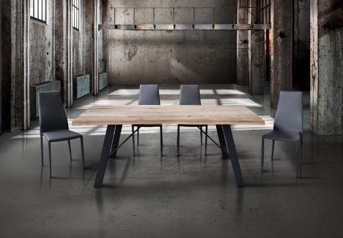 Tavolo Virgo legno massello 160 x 90