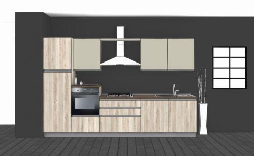 Cucina Lineare L.330xH.204 in vari colori